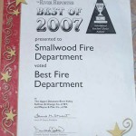SMVFD awarded Best Fire Department!